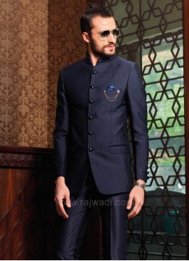 Stylish Jodhpuri Suit With Fancy Broach