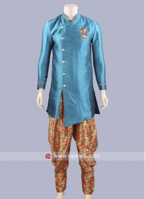 Stylish Jute Silk Indowestern For Party