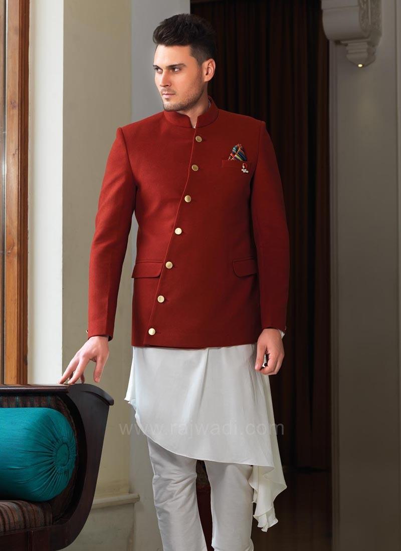 Stylish Koti With Silk Kurta and Bottom