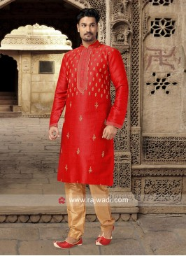 Stylish Crimson Kurta Set