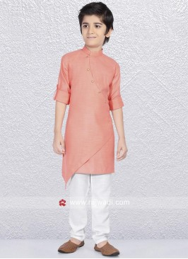 Peach Color Kurta Pajama For Party