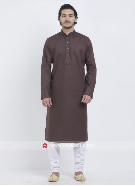 Stylish Kurta Pajama In Brown