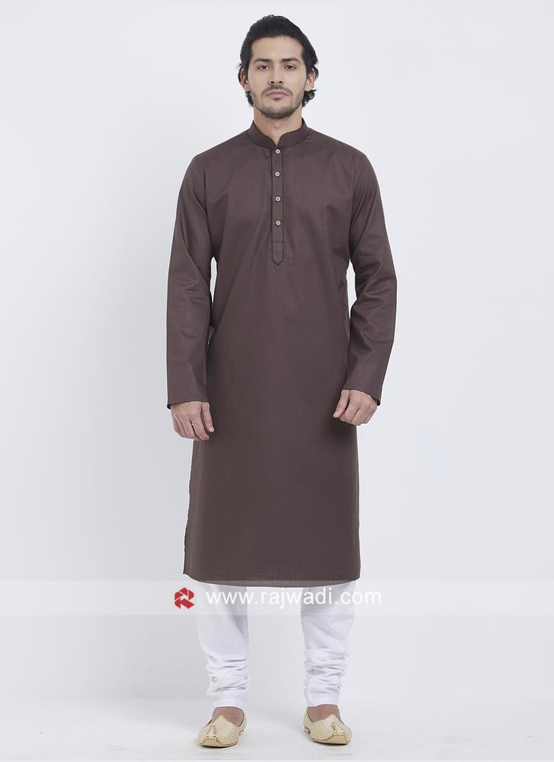 Stylish Kurta Pajama In Brown