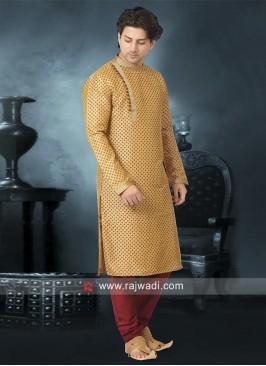 Stylish Kurta Pajama in Golden