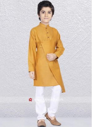 Stylish Kurta Pajama in Mustard Yellow