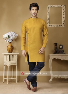 Stylish Kurta Set in Mustard Yellow