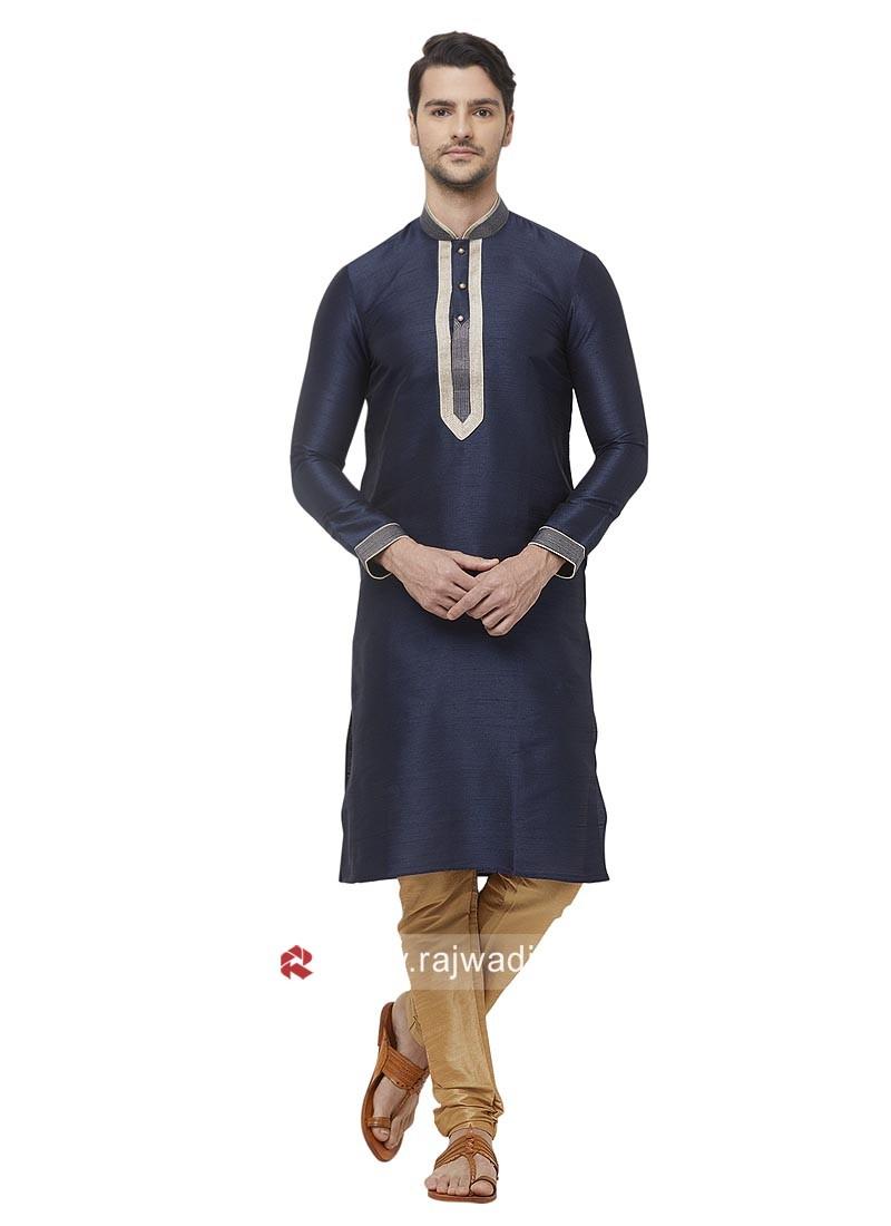 Stylish Kurta Pajama in Navy