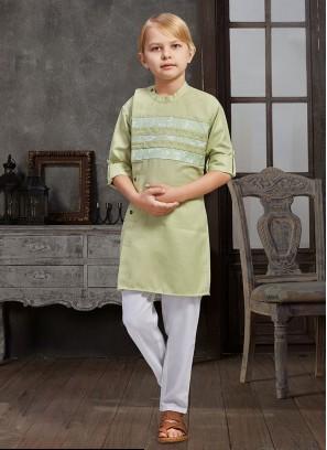 Stylish Kurta Pajama In Pista green Color
