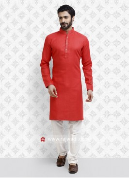 Stylish Kurta Pajama In Rust