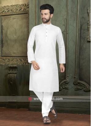 Stylish Kurta Pajama in White