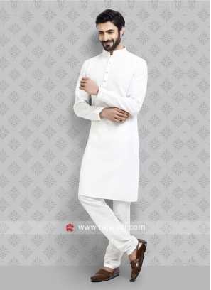 Stylish Kurta Pajama in White