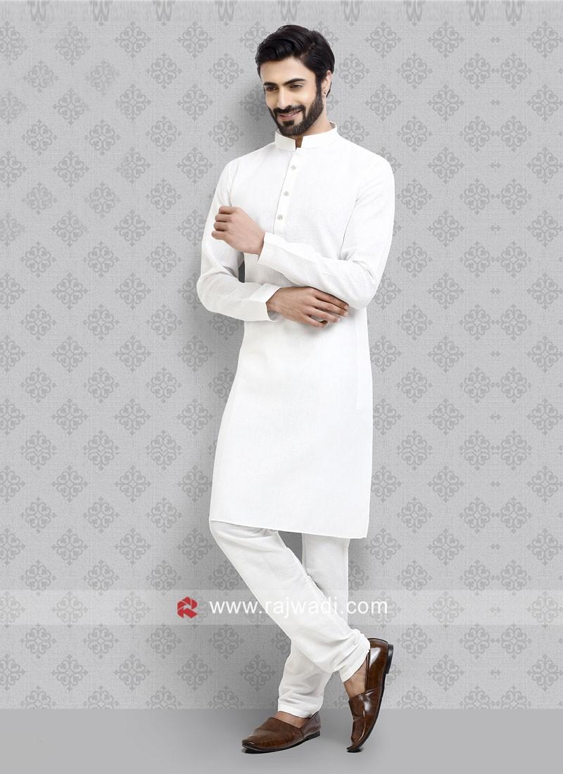 Stylish Kurta Pajama in Off White