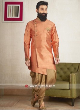 Stylish Orange Patiala Suit