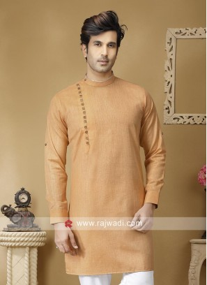 Stylish Light Orange Kurta