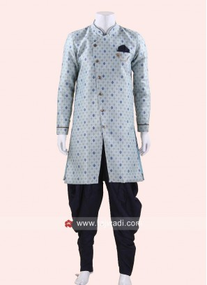 Stylish Light Blue Indo Western