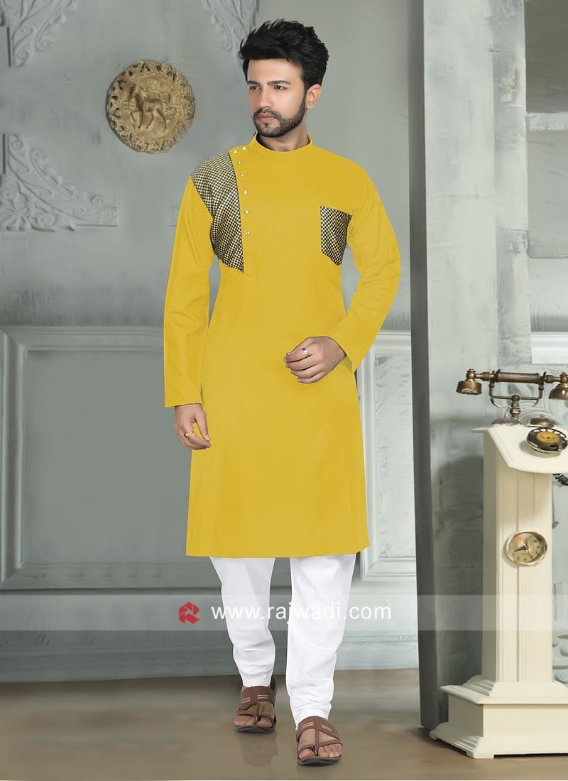 Stylish Linen Fabric Kurta Pajama