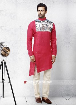 Stylish Linen Pathani Suit