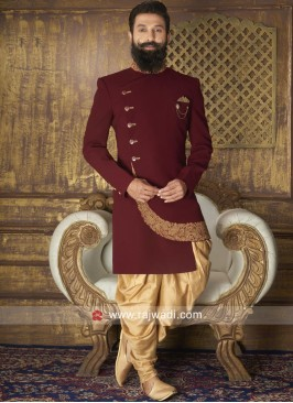 Stylish Maroon Color Indo Western