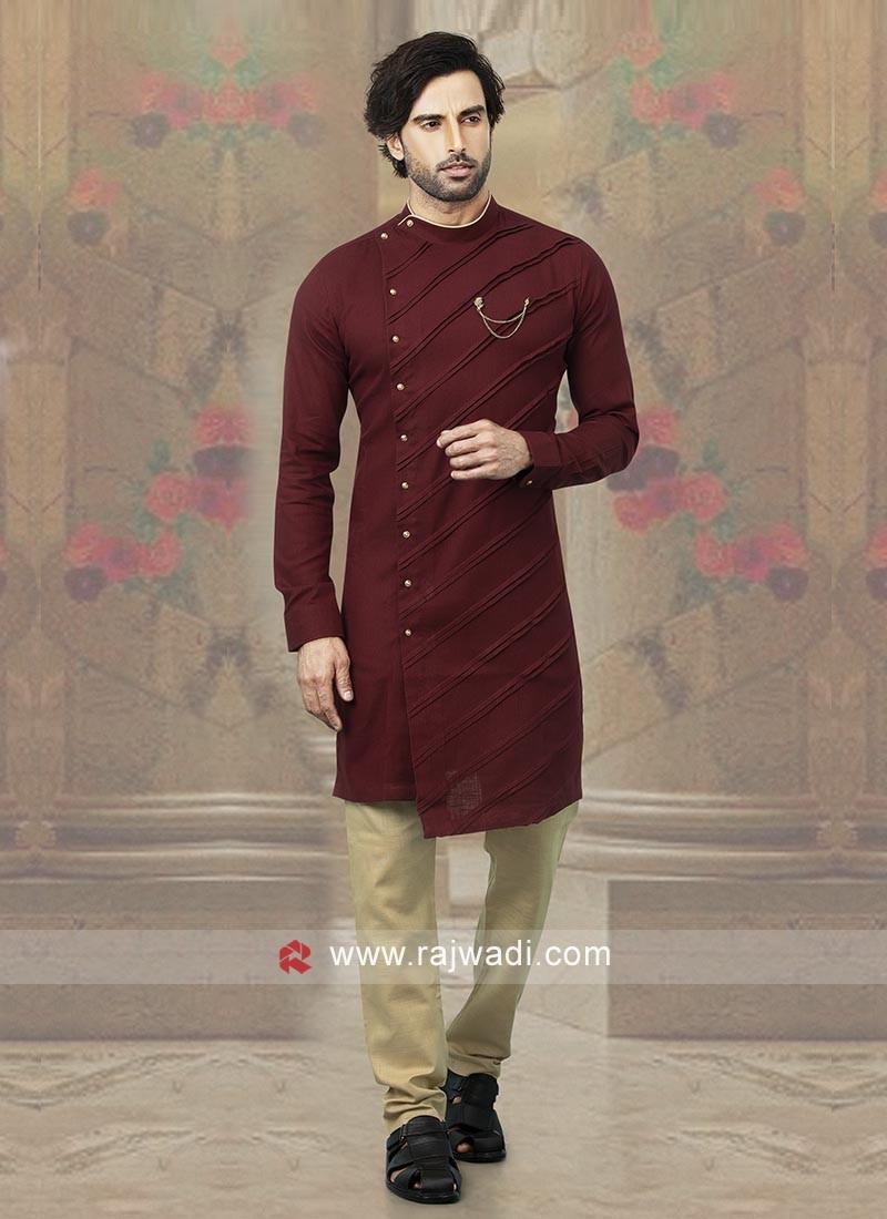 Stylish Maroon Kurta Pajama