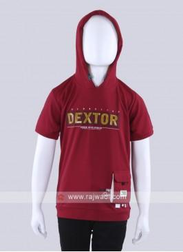 Stylish Maroon T-Shirt