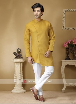 Stylish Mustard Yellow Color Kurta Set