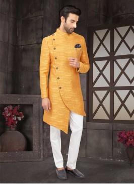 Stylish Mustard Yellow Indo-Western