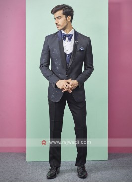 stylish navy blue color suit