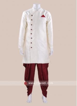 Stylish Off White Color Patiala Set