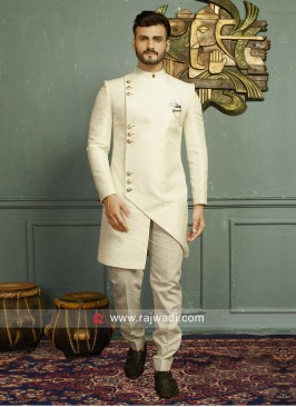 Stylish Beige Indo Western For Party