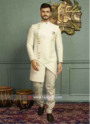 Stylish Off White Indo Western For Party