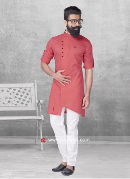 Stylish Peach Color Pathani Suit
