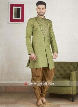 Stylish Pista Green Color Patiala Suit