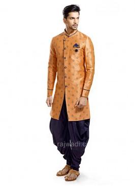 Stylish Orange Color Patiala Suit
