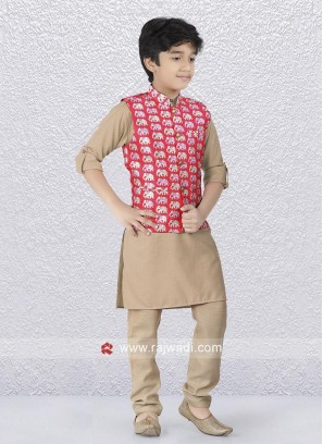 Stylish Party Wear Kids Nehru Jacket