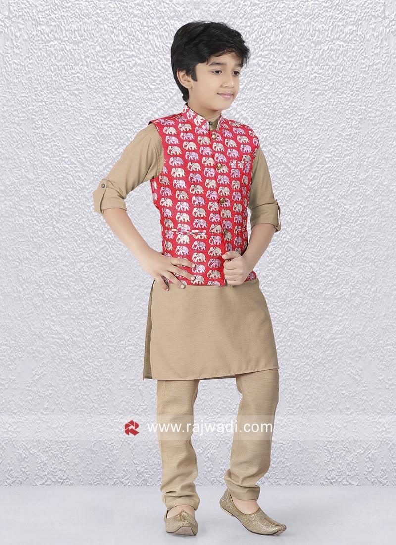 Stylish Party Wear Kids Nehru Jacket