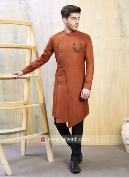Stylish Orange Color Indo Western