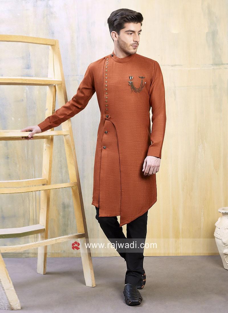 Stylish Orange Color Indo Western