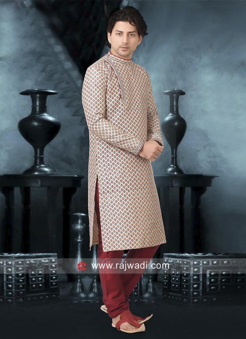 Stylish Cream color Kurta Pajama