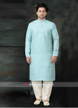 Stylish Sky Blue color Kurta Pajama