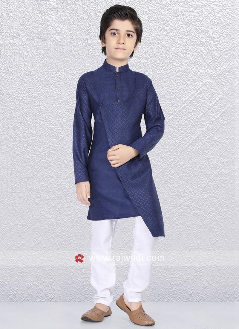 Stylish Dark Blue Kurta Pajama