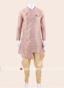 Stylish Pink Color Patiala Suit
