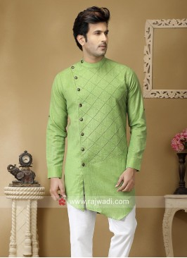 Stylish Pista Green Color Kurta