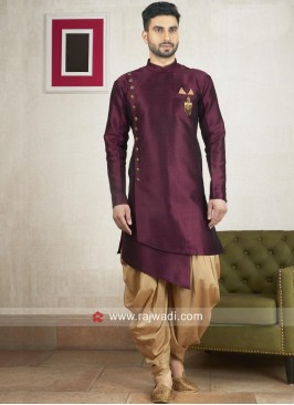 Stylish Wine Kurta With Patiala