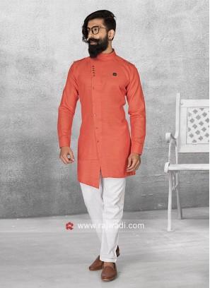 Stylish Round Neck Pathani Suit