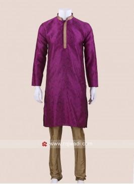 Stylish Purple Color Kurta Pajama