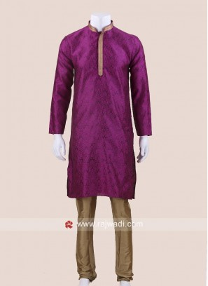 Stylish Purple Color Kurta Pajama
