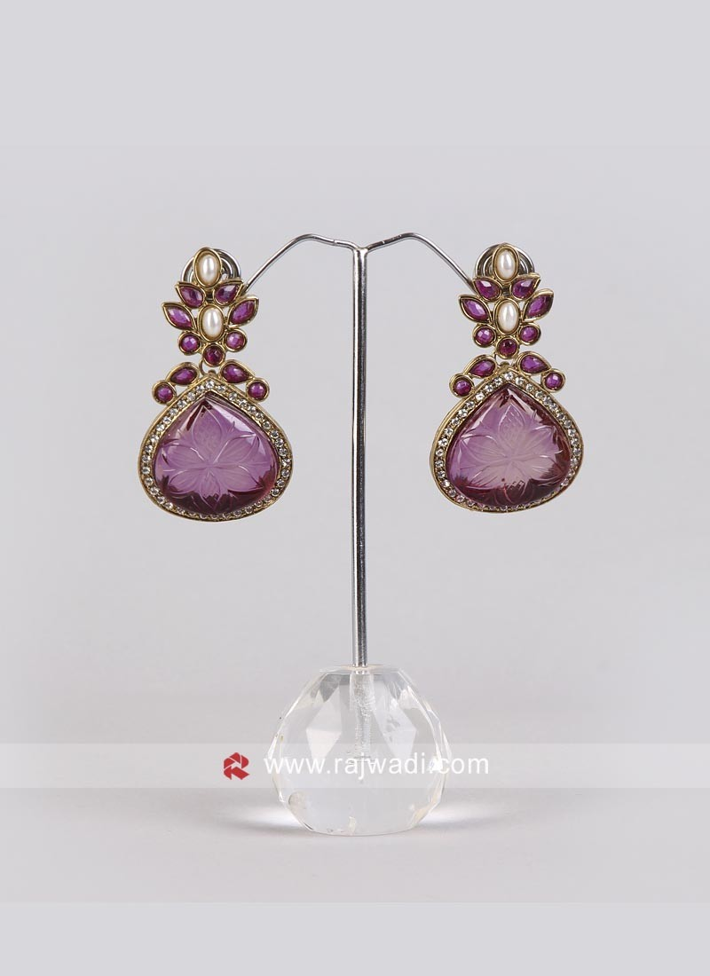 Stylish Purple Earrings