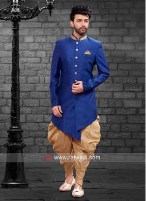 Stylish Royal Blue Indo Western For Wedding