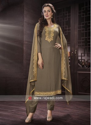 Stylish Semi Stitched Salwar Suit