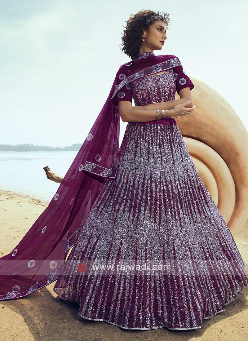 Stylish Sequins Work Lehenga Choli